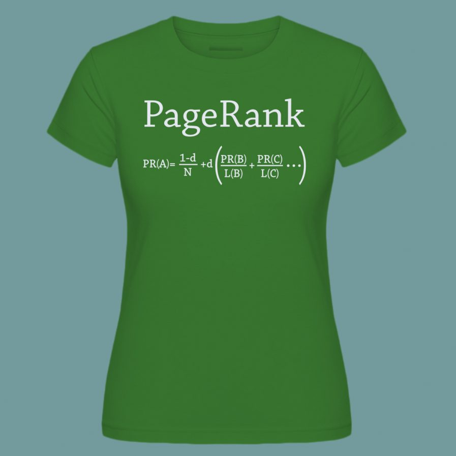 pagerank green seo t-shirt for ladies