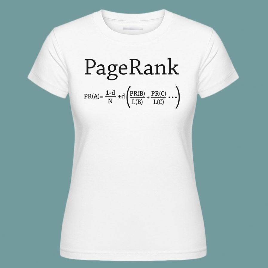 pagerank white seo t-shirt for ladies