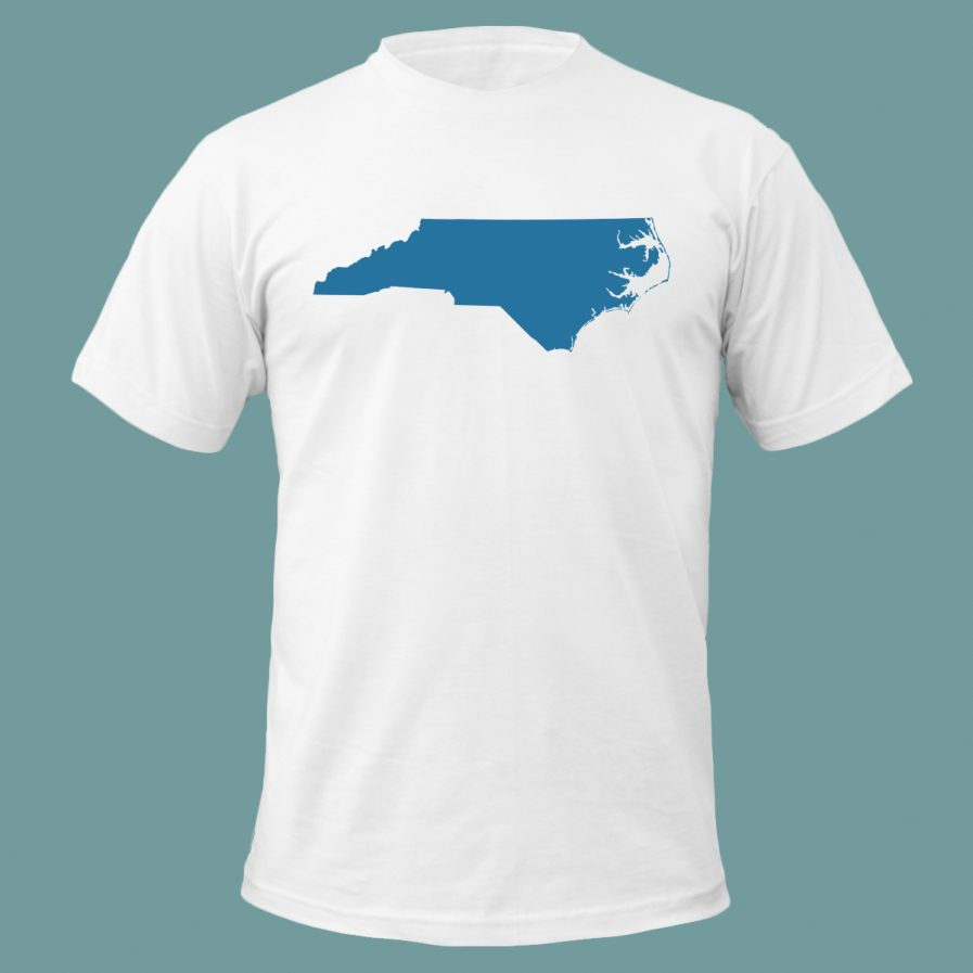 North Carolina State Men's T-Shirt White and Blue Color