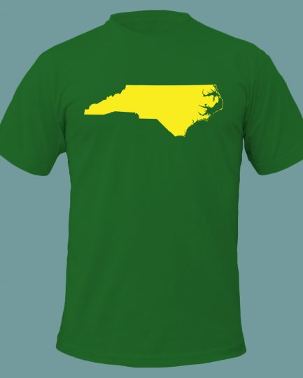 North Carolina State Men's T-Shirt Green and Yellow Color