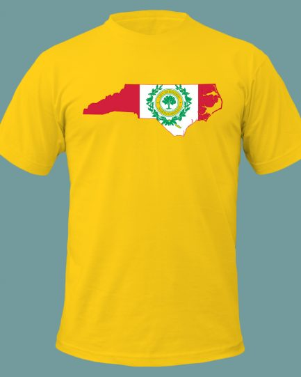Raleigh North Carolina Flag T-Shirt Yellow Color
