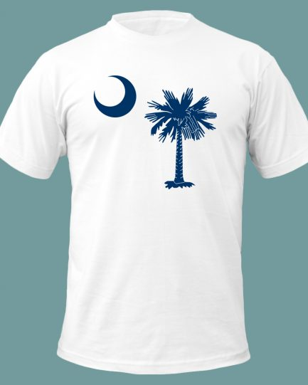 South Carolina State Flag T-Shirt White and Blue Color